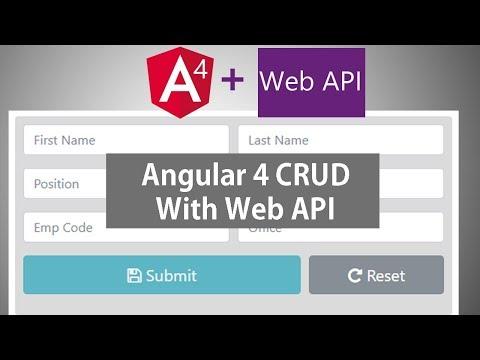 Angular 4 CRUD With Web API