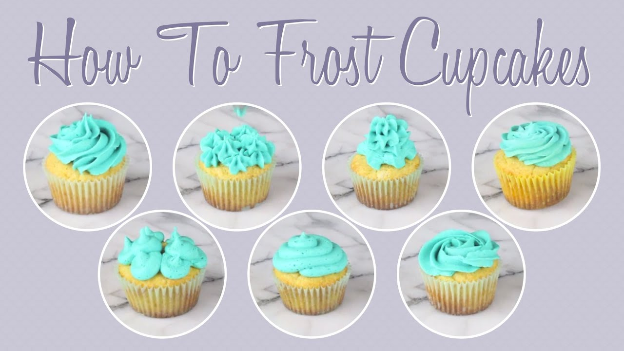 How To Frost Cupcakes  Youtube