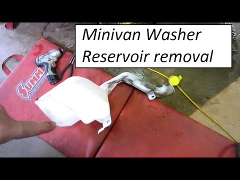 Caravan Town and Country washer reservoir replacement