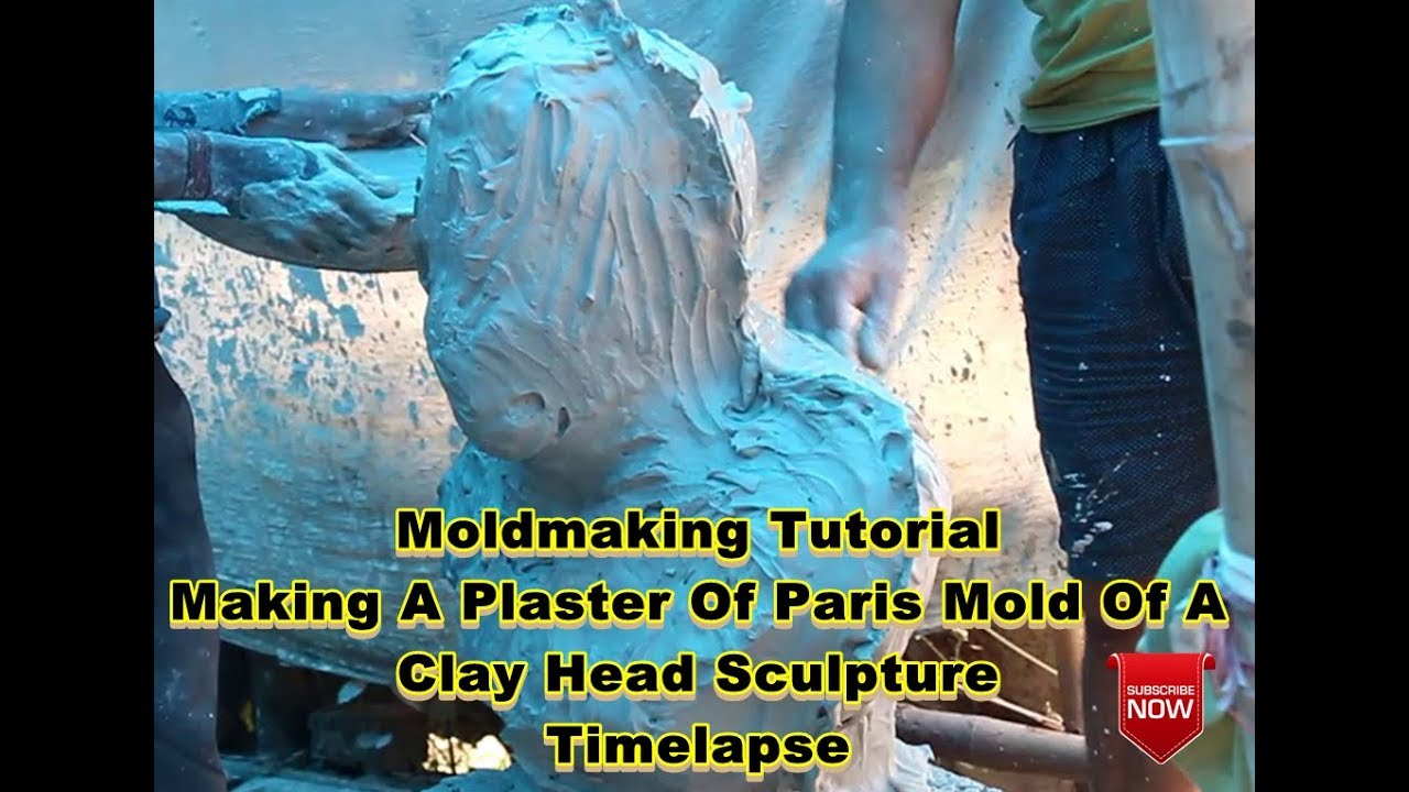 Moldmaking Tutorial-Making A Plaster Of Paris Mold Of A Clay Head