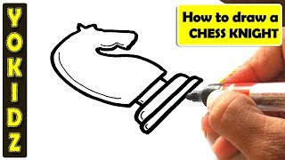 How to draw CHESS KNIGHT