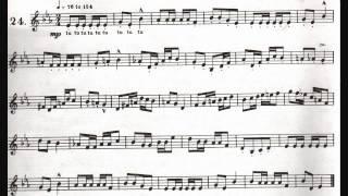 ARBANS SINGLE TONGUE EXERCISE #24
