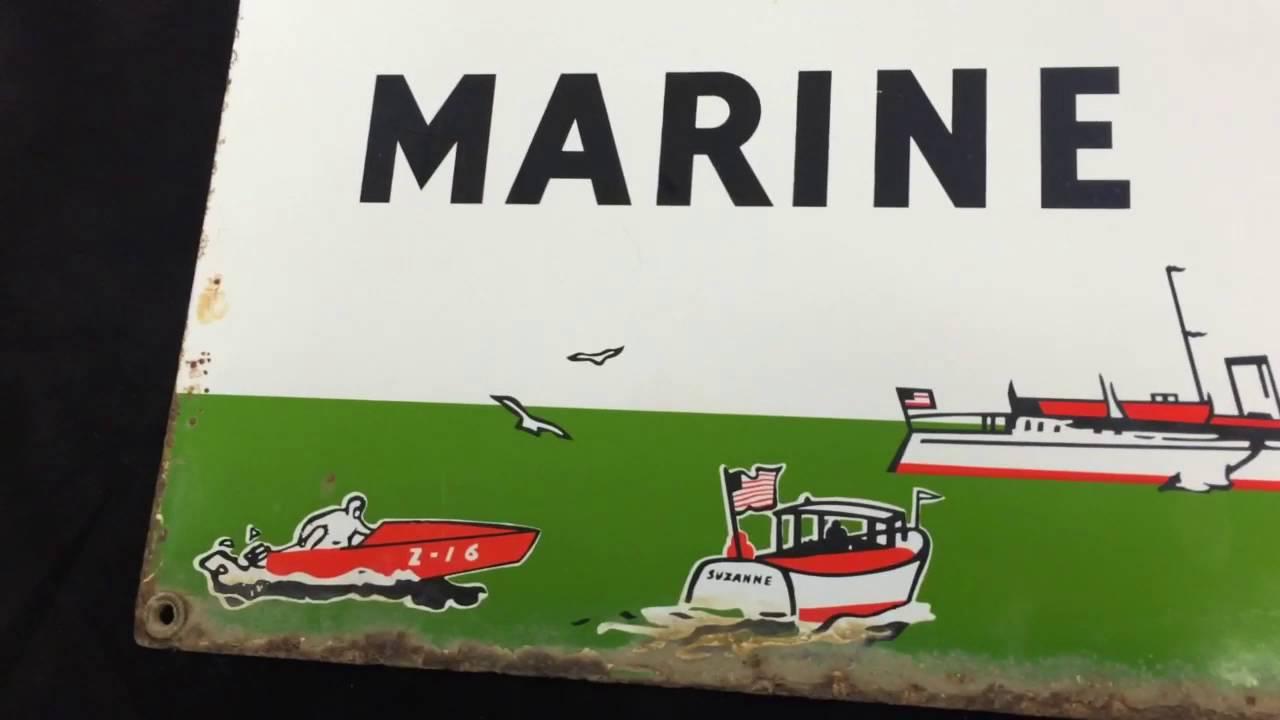 Texaco marine lubricants sign