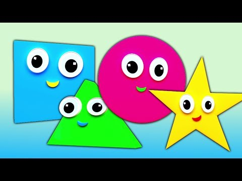 Forme canzone | Istruzione con canzoni | Shapes Song | Nursery Rhymes | Kids Learning Songs