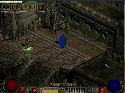 Diablo II EXP Leech Bot v1.0 (Diablo II window view)