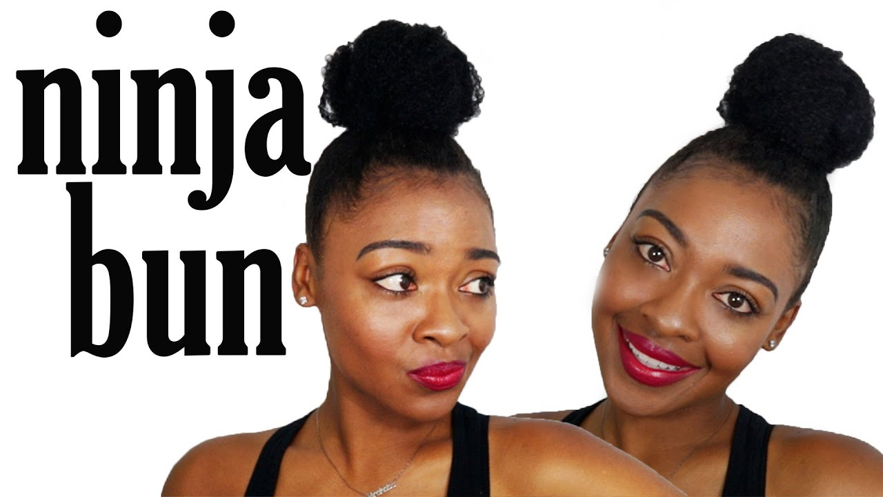 top knot, ninja bun | natural hairstyles for black women