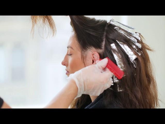 Ashy Brunette Highlights - LumiShine Haircolor Technique