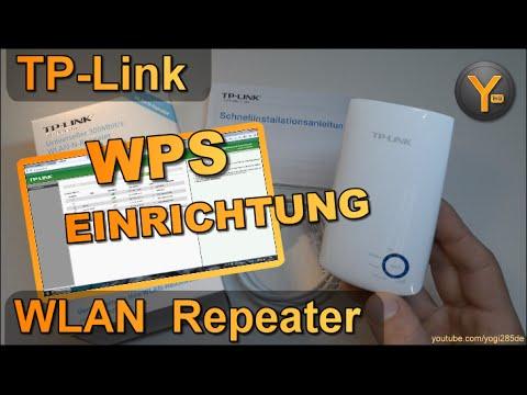 Schnelleinrichtung per WPS: TP-Link TL-WA10RE / WLAN WiFi Repeater /  10.10n / 10Mbit