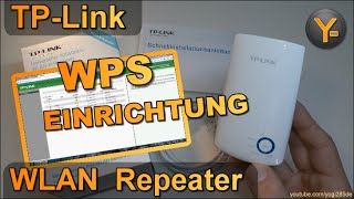 Schnelleinrichtung per WPS: TP-Link TL-WA850RE / WLAN WiFi Repeater / 802.11n / 300Mbit