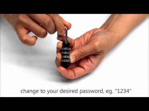 How to change password for TSA approved lock