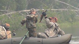 Лесосибирск. Рыбалка детей на тайменя в тайге.