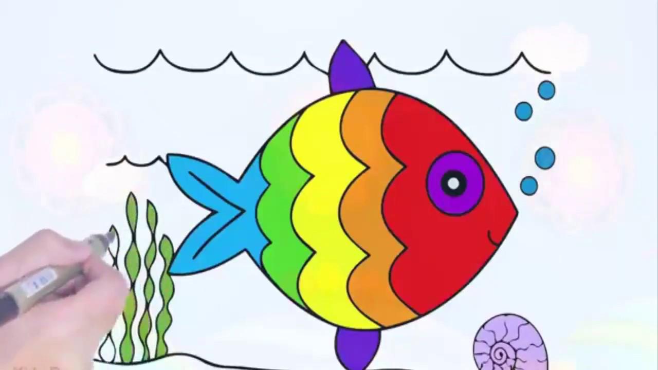 Free Rainbow Fish Template, Download Free Clip Art, Free Clip Art ... | 720x1280