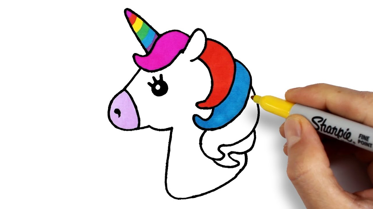 Unicorn Drawing And Coloring How To Draw Unicorn Tek Boynuzlu