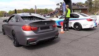 BMW M4 F82 vs BMW M3 F80 vs Audi RS3 + Trying to Drift!