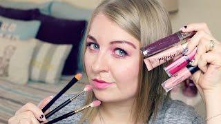 CAŁY MAKIJAŻ PRZY UŻYCIU TYLKO PŁYNNYCH POMADEK | Full Faced Using Only Liquid Lipstick Challenge
