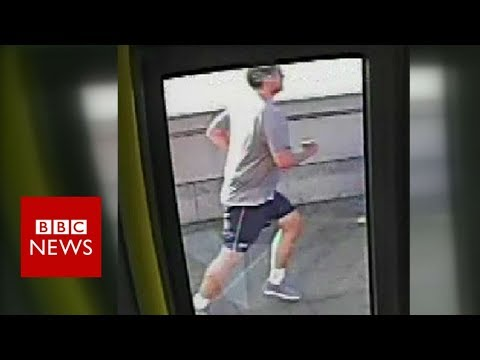 Jogger 'pushed' woman in front of bus - BBC News