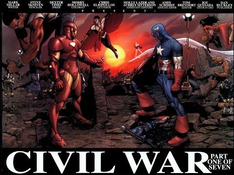historia de civil war comic original resumido
