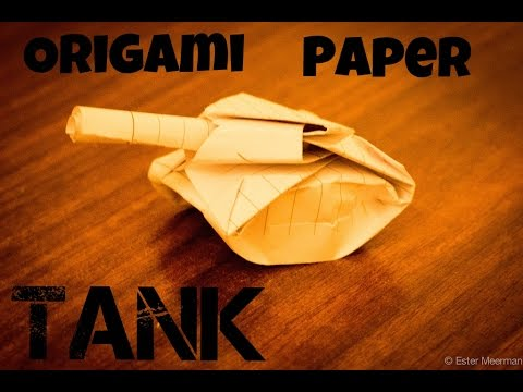 How To Make A Paper Tank - EASY