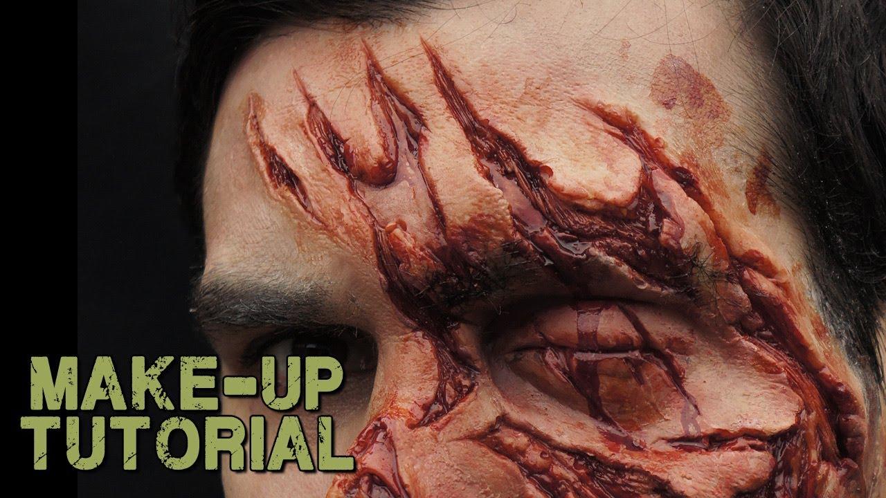 Gelatine Prosthetic Make-up Mash up! - YouTube