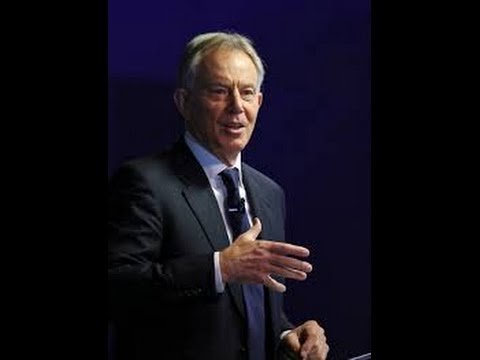 Tony Blair, former U.K. prime minister, speaks during an event at Bloomberg LP's offices in London