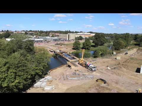 Waterside Campus Road Bridge Installation (Part 2)