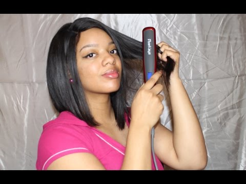 Does It Really Work?  Hair Straightner Brush On NATURAL HAIR