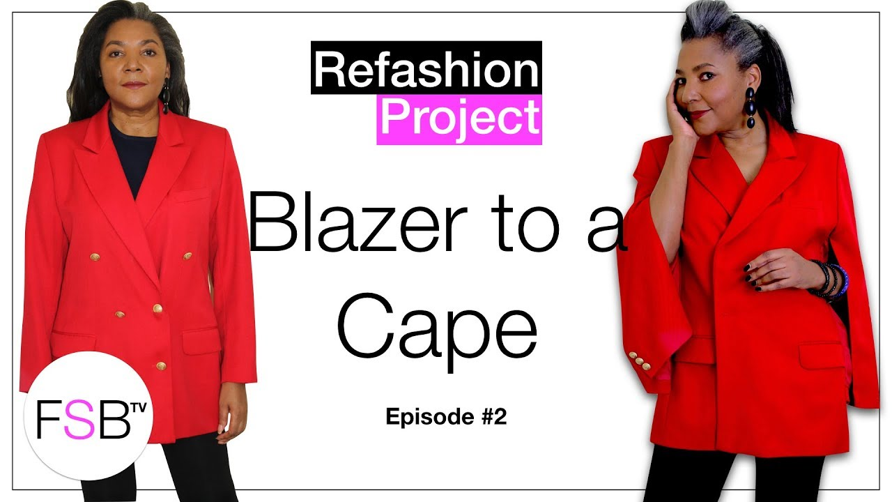 f39a8429d How To Make A Blazer Into A Cape - YouTube