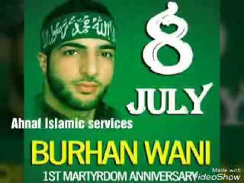 Kashmir lahu ka darya tu garet ki tugyani burhan muzaffar wani