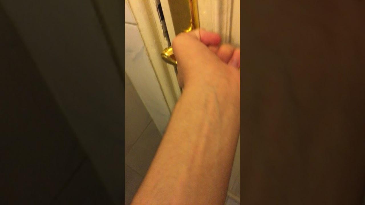 how to open a locked bathroom door  youtube