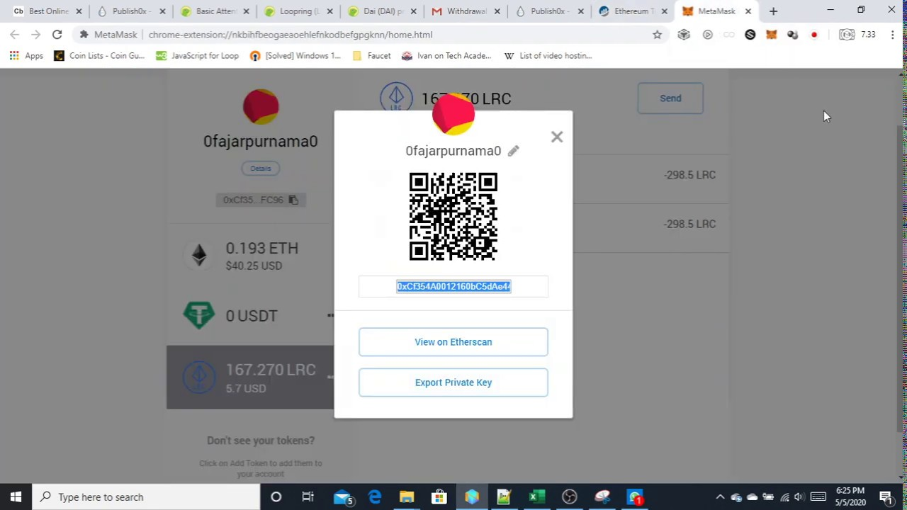 Withdrawing Cryptocurrency Token from Publish0x 4
