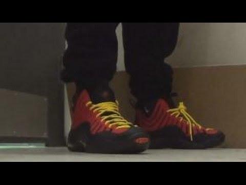 06277130028c Nike Air Bakin Miami Heat Tim Hardaway Sneaker On Foot With  DjDelz Dj Delz  - YouTube