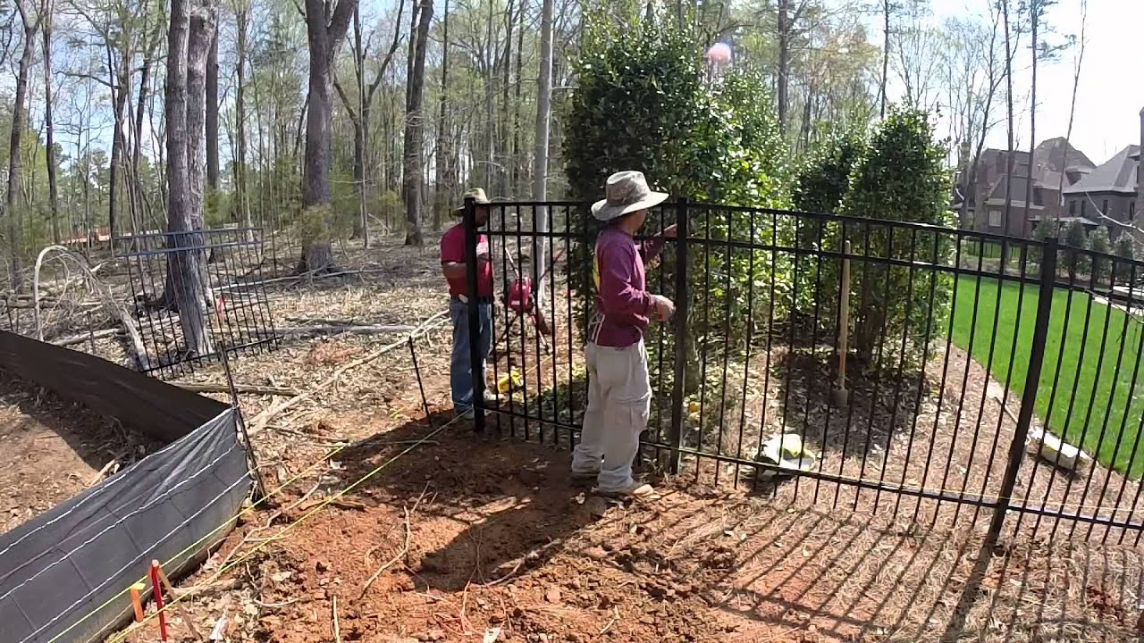 Residential Aluminum Fence Installation