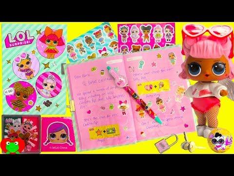 LOL Surprise Secret Diary Confetti Pop and Pet Surprises Toy Video