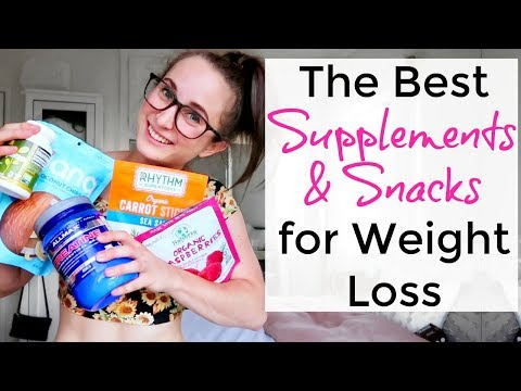 Best SUPPLEMENTS & SNACKS for WEIGHT LOSS