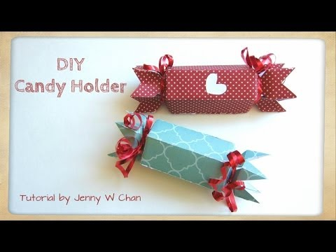 Valentines Day CraftsDIY Paper Candy Holder  Treat Roll Box