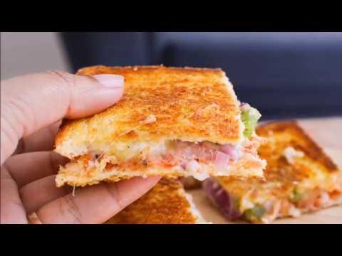 Easy Bread Pizza Sandwich Recipe No Oven By Bluebellrecipes Youtube