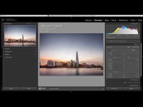 17 minute long 10 stop ND filter Lightroom retouch: Matt Brodie photographic training Episode10