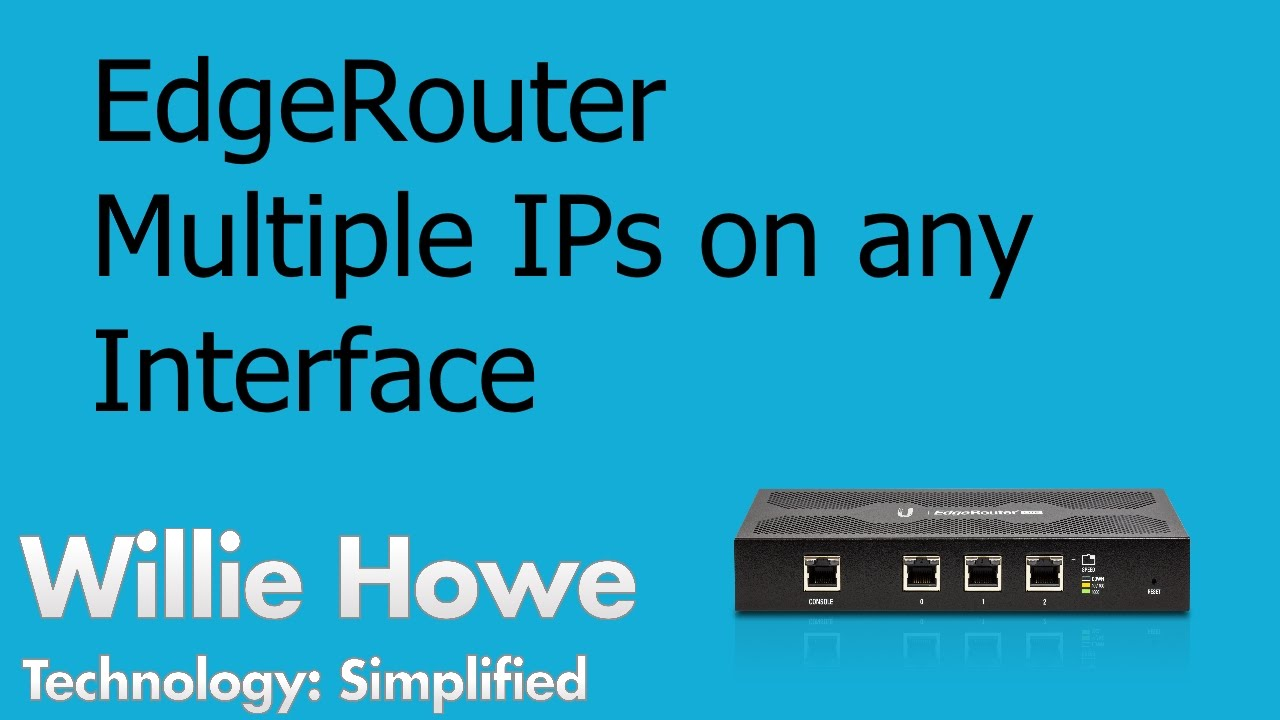 EdgeRouter - Multiple WAN (Internet) IP Addresses