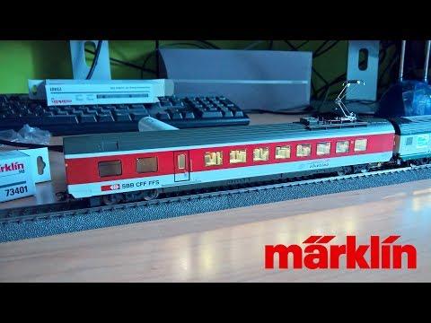 Märklin 42173 Carrozza ristorante SBB - Illuminazione Interna e Pantografo Funzionante