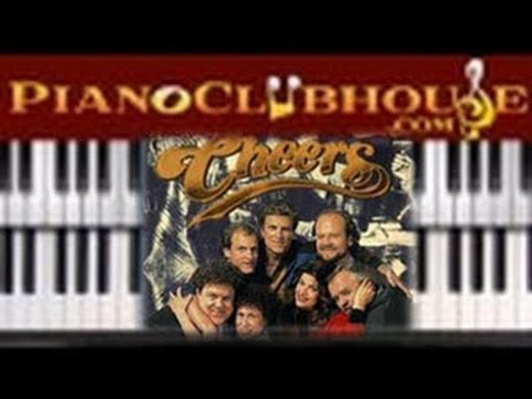 """♫ How to play """"CHEERS THEME SONG- Where Everybody Knows Your Name) piano tutorial lesson ♫"""