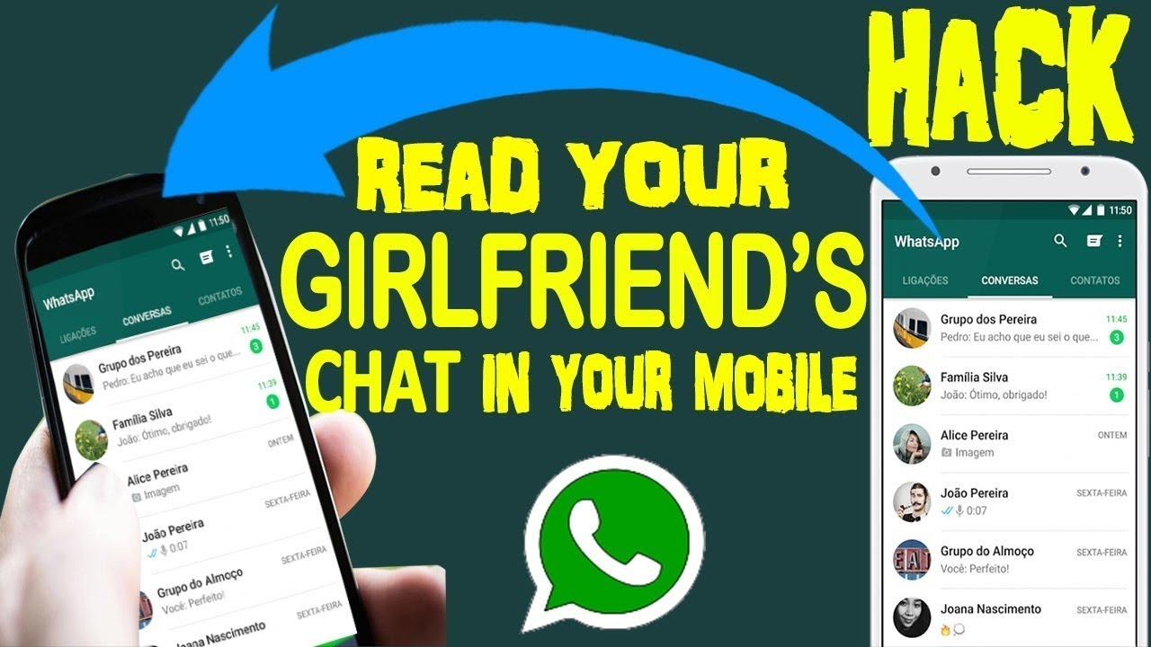 how to read or see your friends or girlfriend whatsapp messages easy youtube. Black Bedroom Furniture Sets. Home Design Ideas