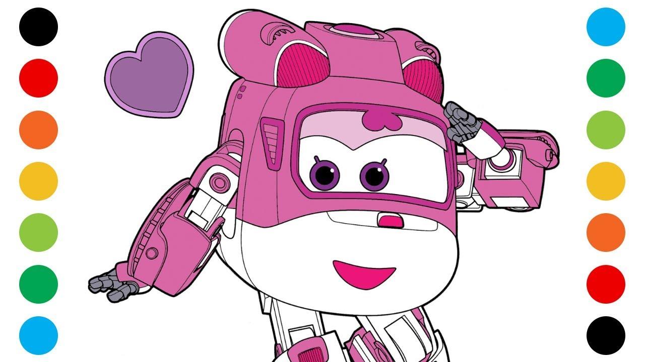 출동 슈퍼윙스 아리 색칠공부 색칠놀이 장난감 - YouTube
