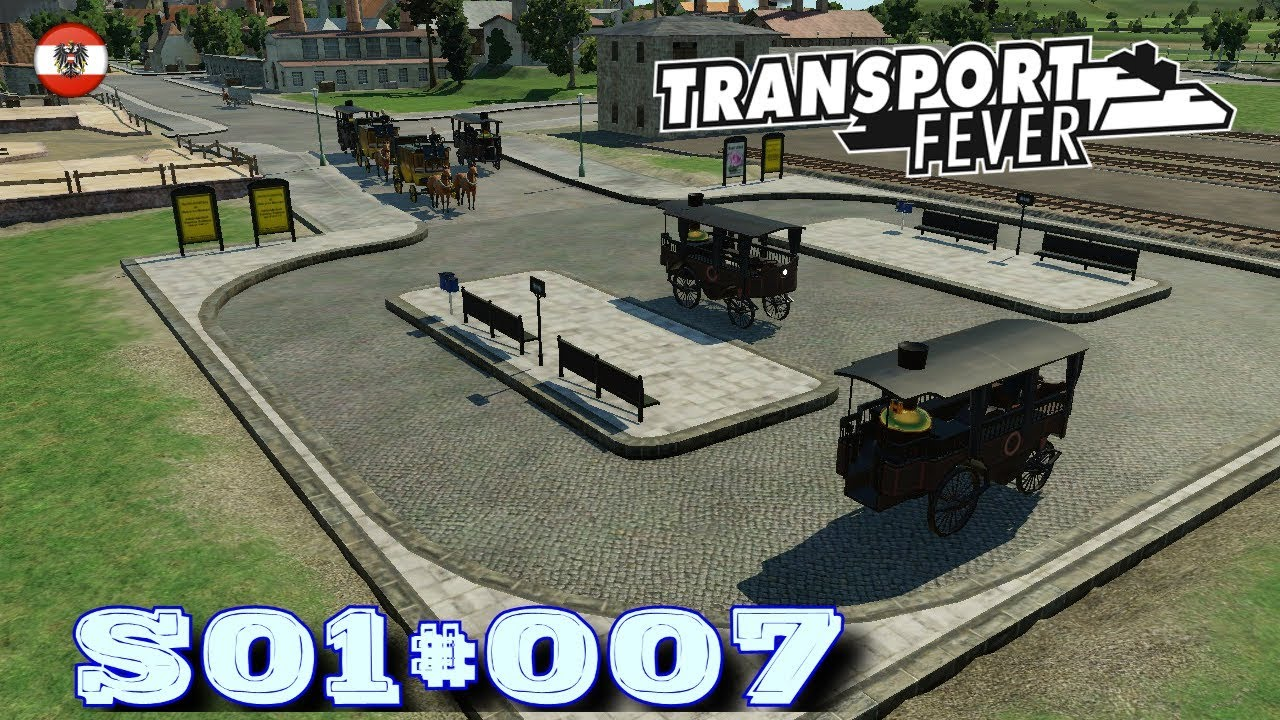 Lets Play Transport Fever S01007 Neue Buslinie Für Wien Deutsch