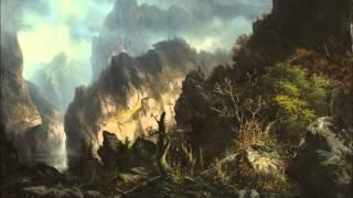 misty mountains rainy mood epic