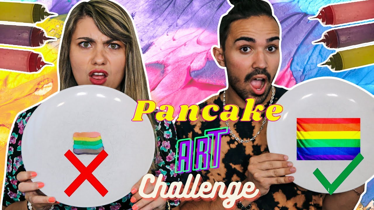 PANCAKE ART CHALLENGE ! - YouTube
