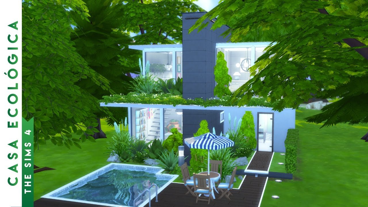 building an ecological house the sims