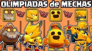 CROW MECHA VS ROBO DYNAMIKE VS ROBO SPIKE VS BO MECHA | EL MEJOR MECHA | OLIMPIADAS de BRAWL STARS Video