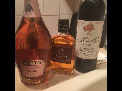Сангрия из вина, коньяка, шампанского и фруктов