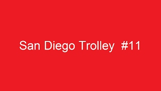 San Diego Trolley at F Street in Chula Vista, California on June 24, 2008