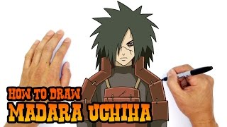 How to Draw Madara Uchiha | Naruto